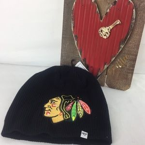 Forty Seven Accessories - Chicago Blackhawks Sequin Large Logo Beanie Hat